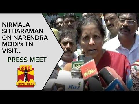 Nirmala Sitharaman on Narendra Modi's Tamil Nadu Visit   Press Meet - Thanthi TV