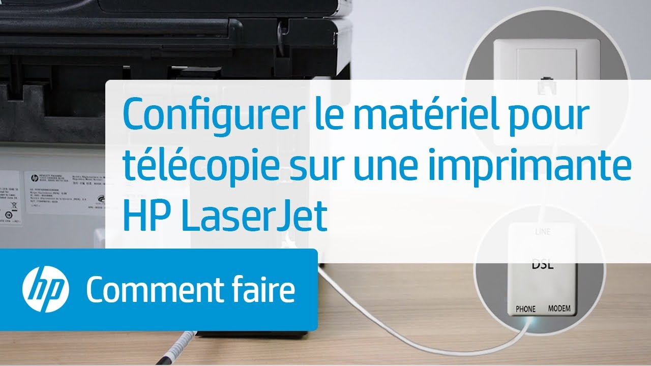 configurer le mat riel pour t l copie sur une imprimante hp laserjet youtube. Black Bedroom Furniture Sets. Home Design Ideas