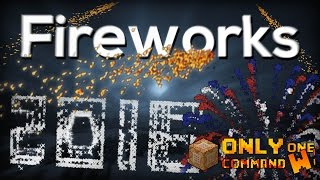 Minecraft: Advanced Fireworks with only one command block. | Firecrackers, Fountains and more!