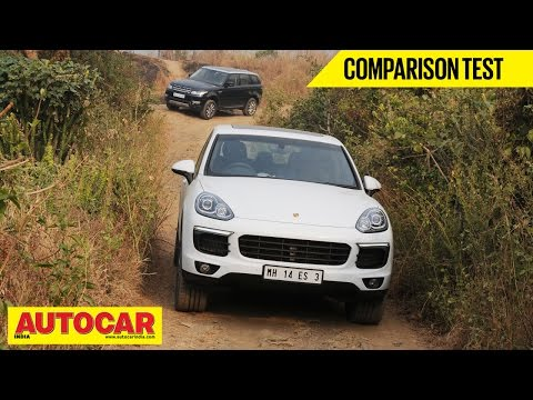 Porsche Cayenne VS Range Rover Sport   Comparison Test   Autocar India