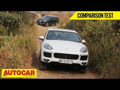 Porsche Cayenne VS Range Rover Sport | Comparison Test | Autocar India