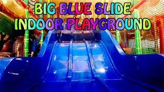 Indoor Playground Big Blue Slide. Amazonia Great World City. Singapore | Indoor Playground