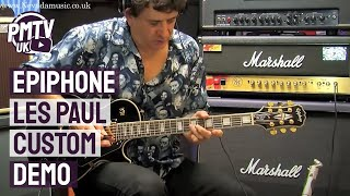 Epiphone Les Paul Custom Demo - Tony Farinha @ PMT Portsmouth