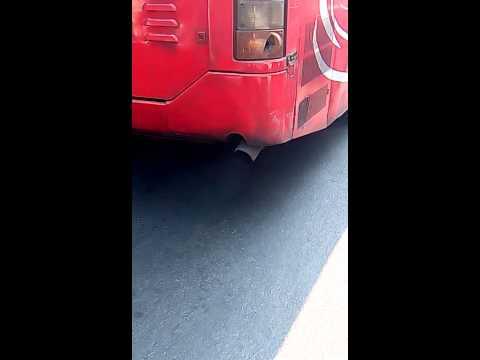 Pollution by BMTC bus near Cubbon Park, Bangalore
