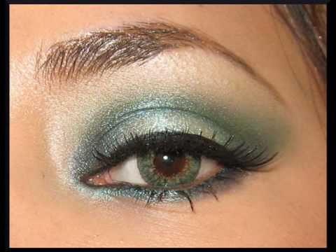 Ojos ahumados -Verde suave-