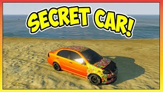 "GTA 5 - SECRET CAR ""Asea"" Location/Tutorial! - RAREST Car In The Game! + Sticker Bombs! (GTA V)"