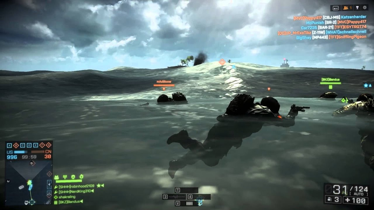 Megalodon Exists! - Battlefield 4 Unexpected Shark Attack - YouTube