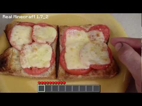 Real Life Minecraft Cooking – Cheese and Tomato Toasted Sanga