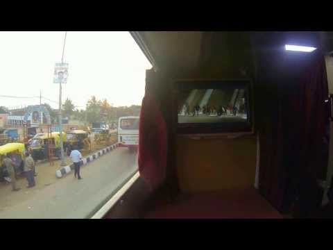 VRL Travels Volvo Multi Axle AC Sleeper Bus. Big screen entertainment - Inside and Out