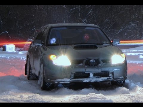 OnBoard Subaru STi Snow Drifting