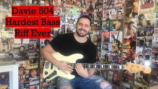 Davie 504 Hardest Bass Riff Ever (Cover) #Davie504