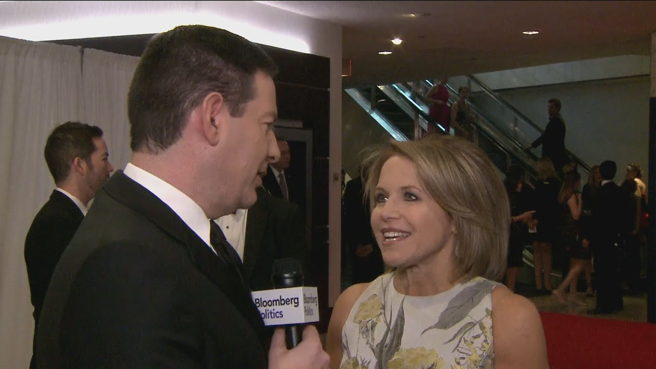 Katie Couric Gives Halperin a Twirl on the Red Carpet