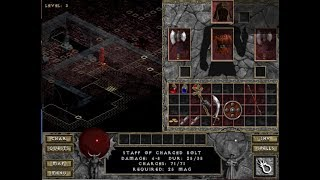 Diablo 1 - Level 3 Staff of Charged Bolt Obtained 2018-10-16