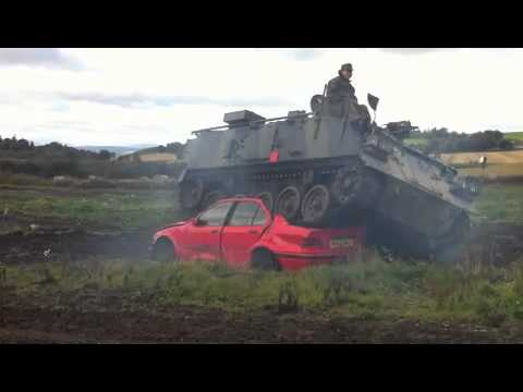 Car Crushing 1   at Tank Driving Scotland