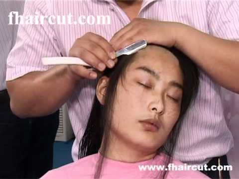 Long Hair With Bangs Trimmed And Face Shaved video