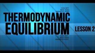 Thermodynamic Equilibrium - Animation Lesson 2