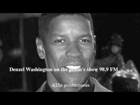 The actor Denzel Washington talks to el piolin...... Video