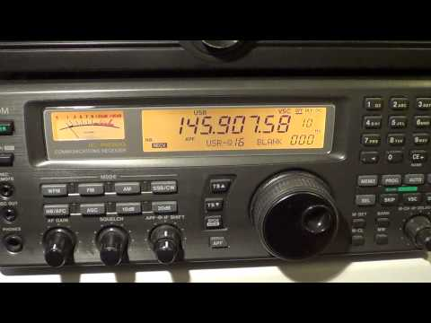 Icom IC R8500 receiving VO-52 amateur radio satellite