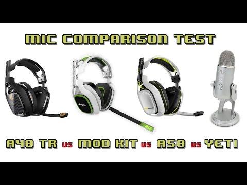 Astro A40 TR vs Astro A40 Mod Kit vs Astro A50 vs Yeti Mic Review