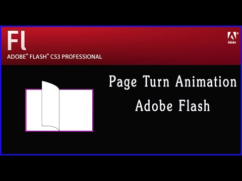 Page Turn Animation Adobe Flash | How to Make Page flip | Flip Book Pages in Adobe Flash