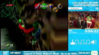 AGDQ 2016 - Zelda: Ocarina of Time Master Quest - All Dungeons Speedrun in 1:40:25 by ZFG