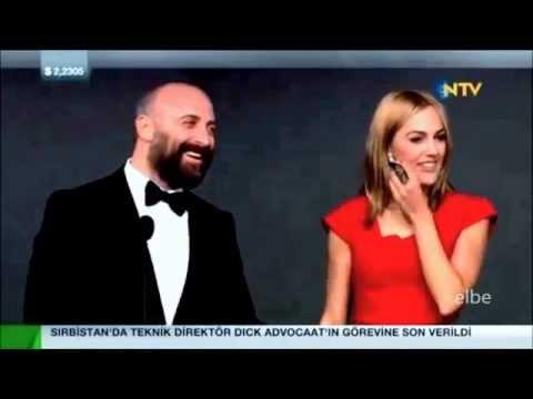 GQ  Moty 2014 Ödül Töreni   Halit Ergenc  with Berguzar Korel and Meryem Uzerli