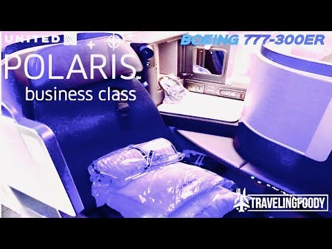 United Airlines Polaris Business Class Boeing 777-300ER Taipei to San Francisco