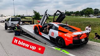 IT BLEW UP AND WRECKED MY RARE LAMBORGHINI! *Ace Spade Rally Day 2*