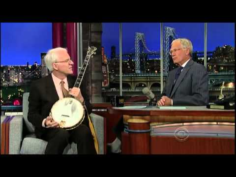 David Letterman 2012-09-24 Steve Martin Banjo Session ft. Mark Johnson & Emory Lester
