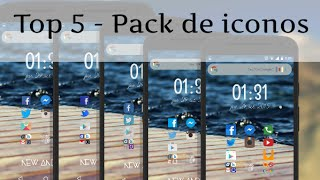 Top 5 pack de iconos | New Android