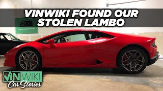 VINwiki found our stolen Lamborghini and saved us $200k