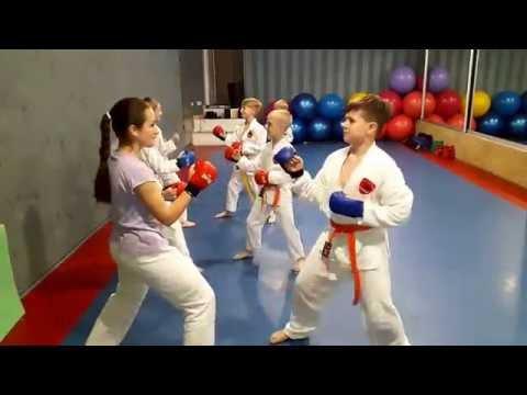 KARATE CLUB SKIF Тренировка каратэ дети 28.05.16/Karate for Children