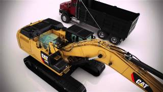 Walk around the new CAT 336E H Hybrid Excavator