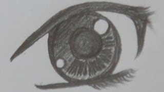 A way of drawing anime pretty girl's eye - pencil drawing