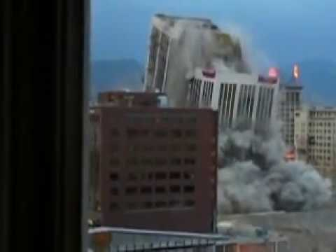 Key Bank Tower implosion - earthquake included