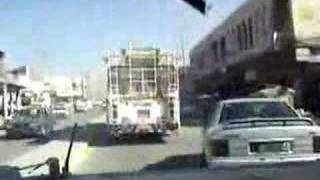 US army driving around Bagdad, Iraq