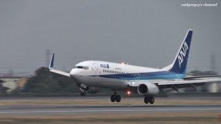 松山空港 Air Nippon (ANK/ANA) Boeing 737-800 JA59AN 2012.3.24