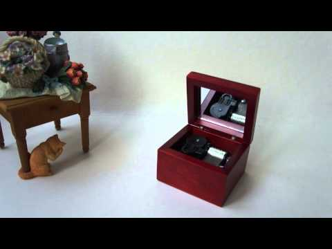 Windup Wooden Box Music Box - A time for us (Romeo & Juliet)