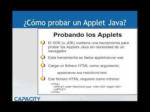 Applets - Curso de Java - Parte 1 de 2 - Capacity http://www.capacityacademy.com/java.html