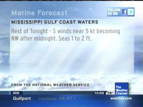 Local forecast Gulfport, MS. 8/25/11 10:58pm
