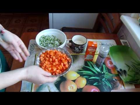 морковь с горошком