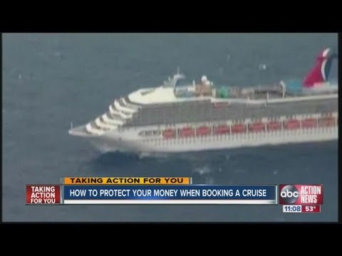 Travel agent urges cruise ship passengers to buy third party travel insurance to protect their money