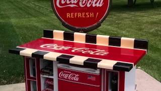 Home Decor Upcycle -- TV Cabinet to Coca-Cola Bar