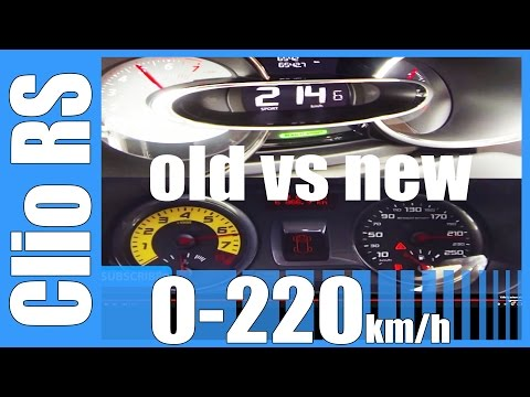 Renault Clio RS Old vs New 0-220 km/h Acceleration BATTLE!