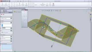 3- SolidWorks Surface Tutorial: Extruded Surface pt3 (advanced)