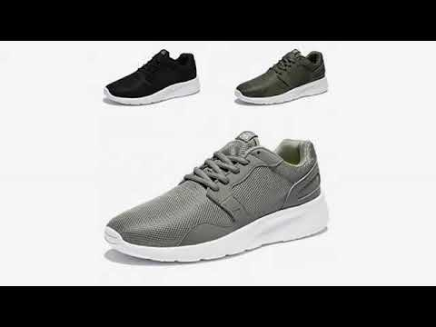 Must See Shoe Review 2018! Feetmat Men's Running Shoes Mesh Breathable Lightweight Athletic Casua..