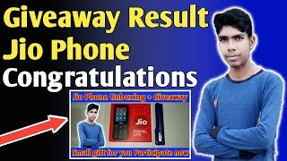 Jio Phone Giveaway Result    Congratulations To The Winner    Technical Ashish