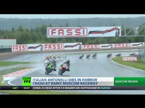 Raceway Tragedy - Rider killed in horror crash in Moscow