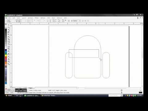 Making of Android Logo Using CorelDraw x3