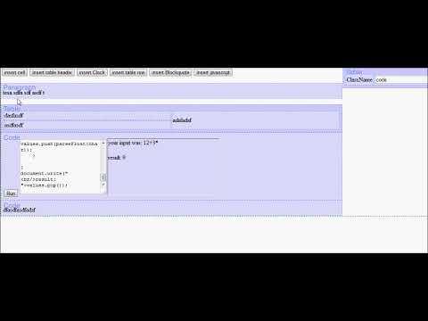 Non HTML Web based editor